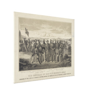 The General's of the Confederate Army Stretched Canvas Prints