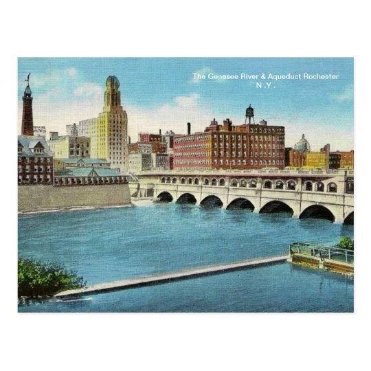 The Genesee River & Aqueduct  Postcard