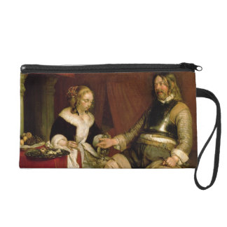 The Gentleman Soldier (oil on canvas) Wristlet Purse
