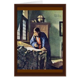 The Geographer.,  By Johannes Vermeer Card