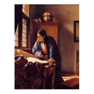 The Geographer by Johannes Vermeer Postcard