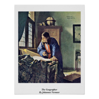 The Geographer. By Johannes Vermeer Print