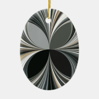 The Geometry of waves Ceramic Oval Decoration