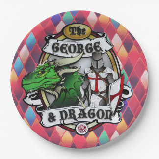 The George And Dragon Paper Plate 9 Inch Paper Plate
