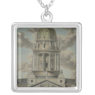 The German Cathedral on the Gendarmenmarkt, 1812 Silver Plated Necklace