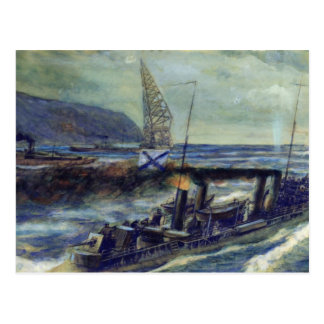 The German u-boat U 56 sunk by Grozovoi Postcard