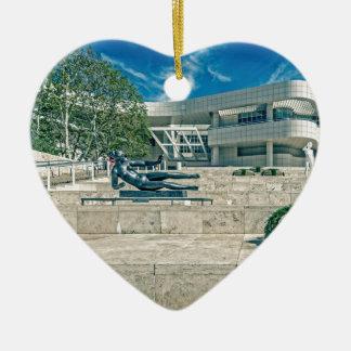 The Getty Center Arrival Plaza Ceramic Heart Decoration