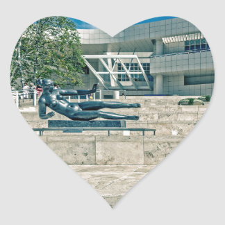 The Getty Center Arrival Plaza Heart Stickers
