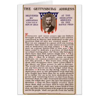 The Gettysburg Address by Abraham Lincoln 1863 Greeting Card