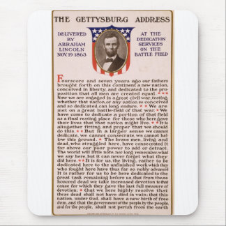 The Gettysburg Address by Abraham Lincoln 1863 Mouse Mat