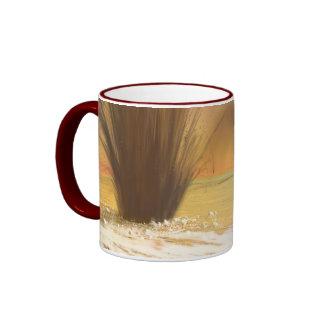The Geysers of Mars Ringer Mug
