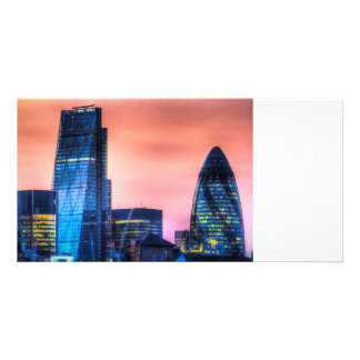 The Gherkin and the Cheesgrater London Personalised Photo Card