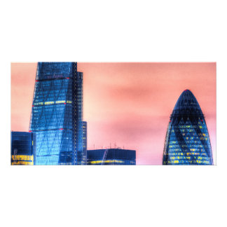 The Gherkin and the Cheesgrater London Picture Card
