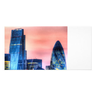 The Gherkin and the Cheesgrater London Custom Photo Card
