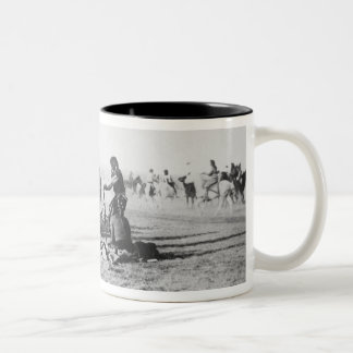 The Ghost Dance, South Dakota, 1890 (b/w photo) Two-Tone Coffee Mug