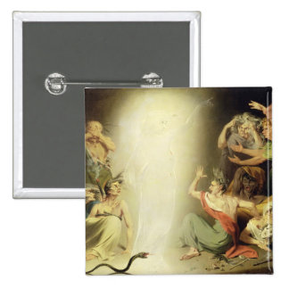 The Ghost of Clytemnestra Awakening the Furies, 17 15 Cm Square Badge