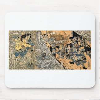 The ghost of Taira Tomomori by Utagawa Kuniyoshi Mouse Pad