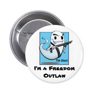 The Ghost Outlaw Round Pin