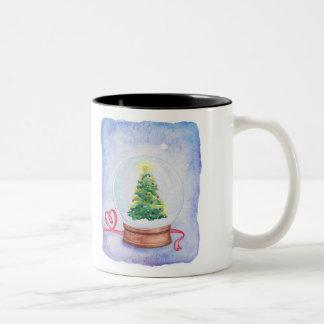 The Ghost Wore Yellow Socks- Snow Globe mug