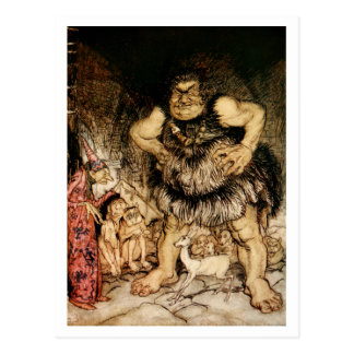 The Giant Galligantua and the Wicked Old Magician Postcard