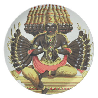The Giant Ravana (colour litho) Plate