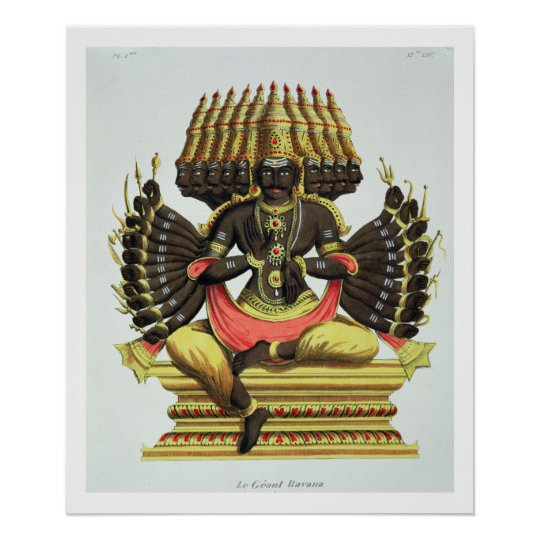 The Giant Ravana (colour litho) Poster