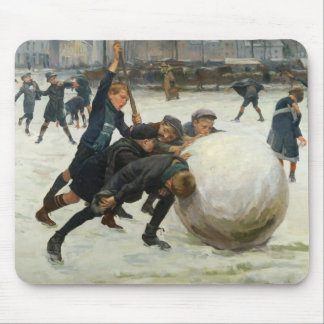 The Giantest Snowball, 1903 Mouse Mat