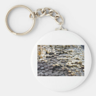 The Giants Causeway Basic Round Button Key Ring