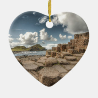 The Giant's Causeway, Northern Ireland Ceramic Heart Decoration