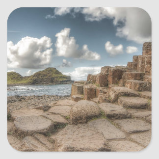 The Giant's Causeway, Northern Ireland Square Sticker