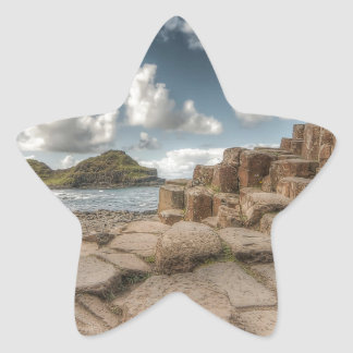 The Giant's Causeway, Northern Ireland Star Stickers