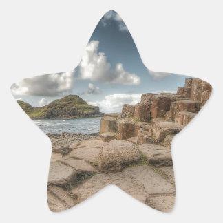 The Giant's Causeway, Northern Ireland Star Sticker