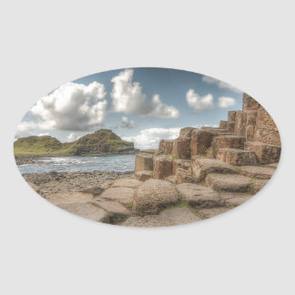 The Giant's Causeway, Northern Ireland Oval Sticker