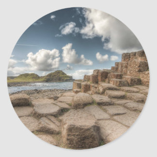 The Giant's Causeway, Northern Ireland Round Sticker
