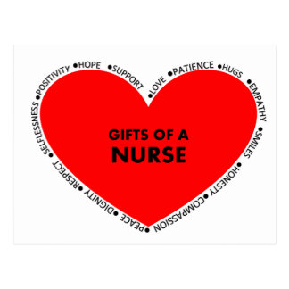 THE GIFTS OF A NURSE POSTCARD