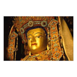 The gilded Jowo Buddha Statue, Jokhang Temple, Photo Print