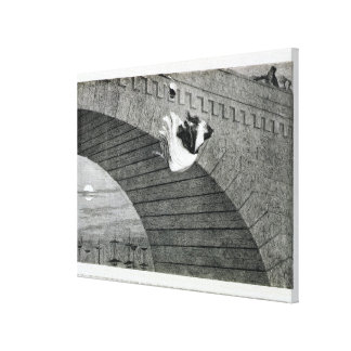 The Gin-Crazed Girl Commits Suicide, plate 8 of 'T Canvas Print