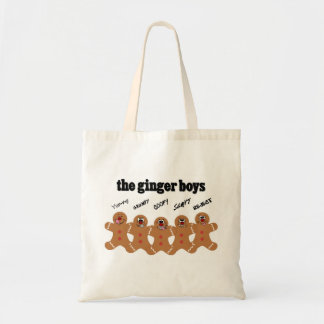 """""""The Ginger Boys"""" Gingerbread Man Boy Band Bags"""