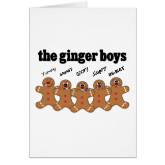 """The Ginger Boys"" Gingerbread Man Boy Band Card"