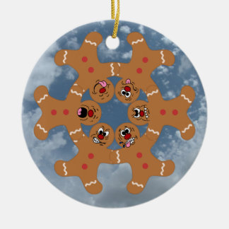 """The Ginger Boys"" Gingerbread Skydiving Formation Christmas Ornament"