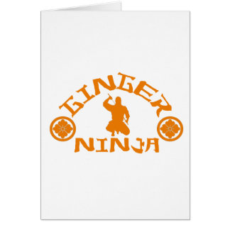 The Ginger Ninja Greeting Card