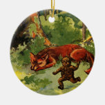 The Gingerbread Boy and the Fox Christmas Ornaments