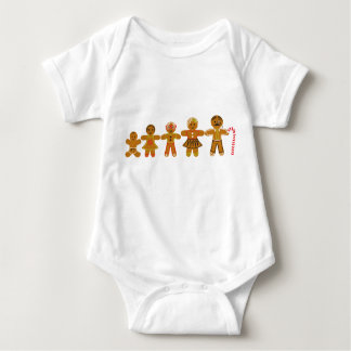 The Gingerbread Family Baby Bodysuit