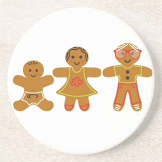 The Gingerbread Family Drink Coaster
