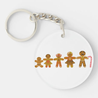 The Gingerbread Family Key Ring
