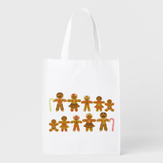 The Gingerbread Family Reusable Grocery Bag