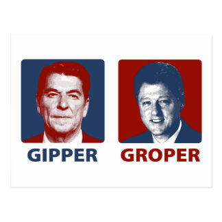 The Gipper and The Groper Postcard