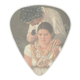 The Gipsy Boy and Girl, (oil on canvas) Acetal Guitar Pick