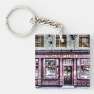 The Gipsy Moth Pub Greenwich Single-Sided Square Acrylic Key Ring