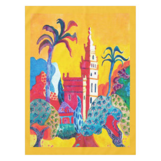 The Giraldi Bell Tower in Seville. Tablecloth